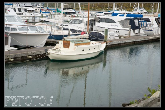 I just loved this little boat and the refections.