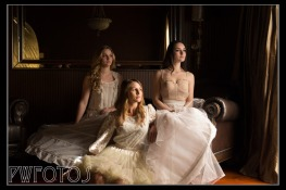 A group shot of the three models. Posing & Lighting set up by Richard