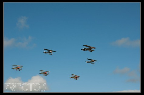 There were six German plane in this formation, three Fauker Triplanes make famous by the Red Baron.