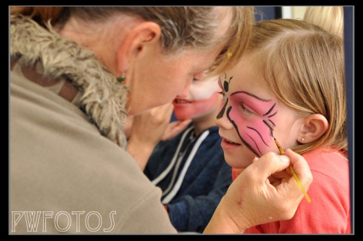 Face painting was another crowd favorite.