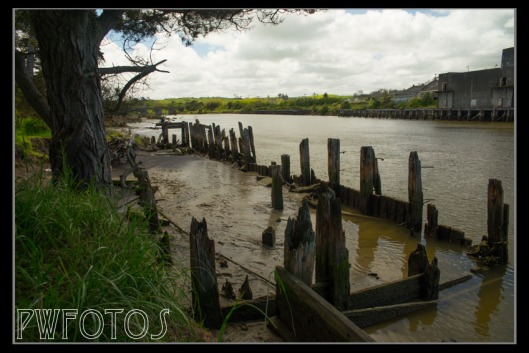 Timbers are all that remains of this wharf