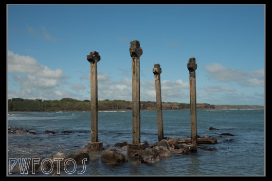 These are all that remains of an old wharf