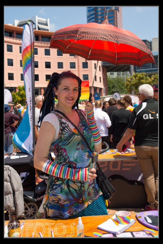 I found this lady's make, costume and the umbrella quite appealing so I asked if she would mind me taking her image.