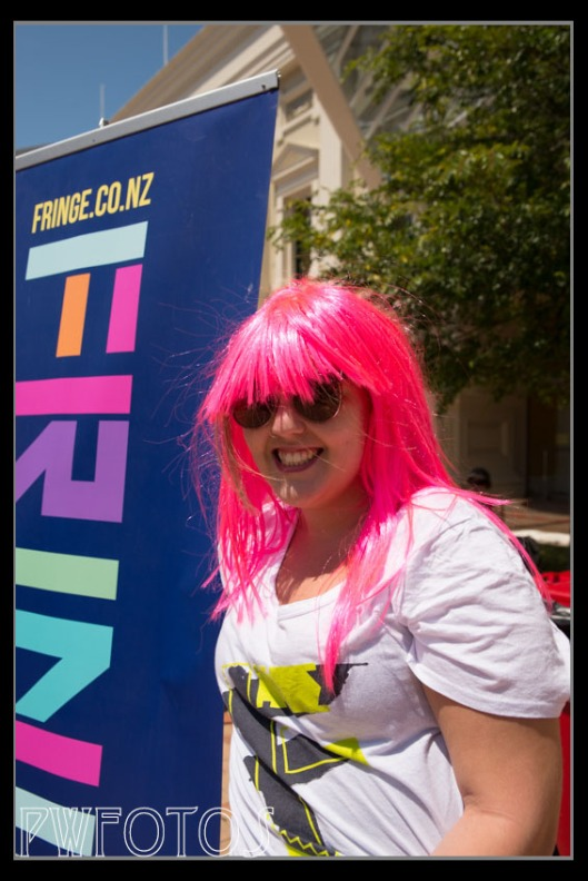 The bright colour hair was the initial attraction with this lady. Again permission was sought