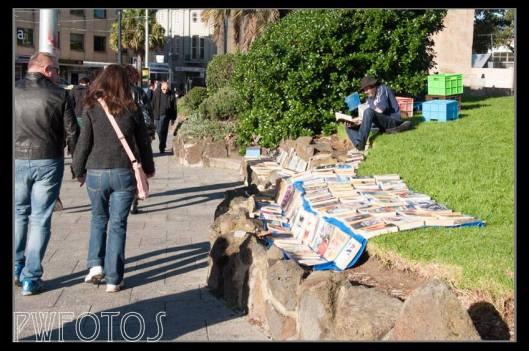 A street book seller at St Kildas