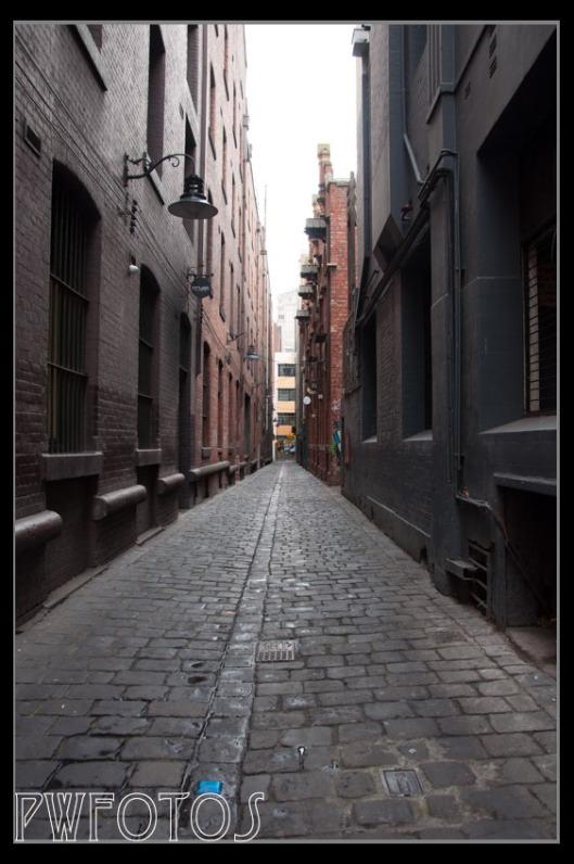 Melbournes many narrow alleys