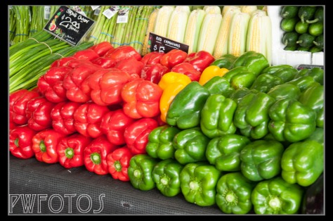 The third part of the market is given over to fruit and vegetables.