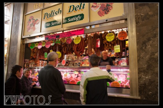 The deli areas consists of a large numbers of small shops still in the original kiosks from early last centuries. Everything from breads, pastas, dairy products, wines, cured meats, teas and coffees was on sale