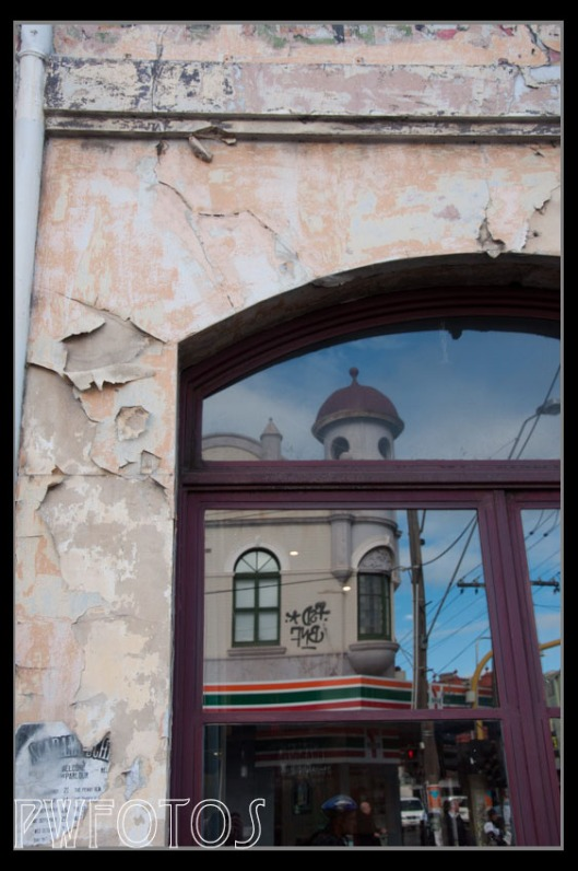 This pub in Fitzroy appears in the guide for the area. Its exterior is definitely long overdue for a paint