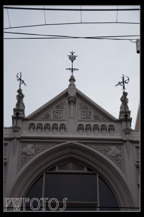 Although this looks like it could be on a gothic church it is actually a building in Bourke Street in the CBD