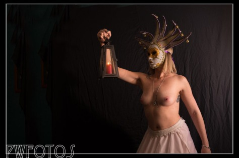 The most recent shot with the venetian mask