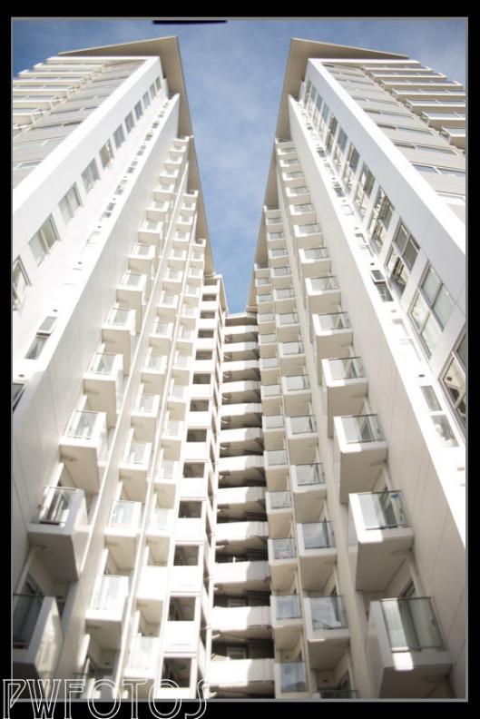 Modern high rise apartments
