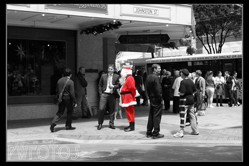 From December 2012 a street scenes shot and then given a different treatment.