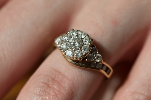 Finally a macro shot of the ring. Chloe wanted to see whether a clean would be in order to get the best sparkle out of it