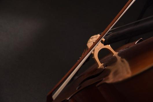Close up of a cello