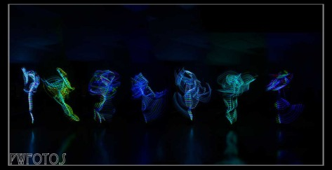 The essence of dance. A composite of several shots