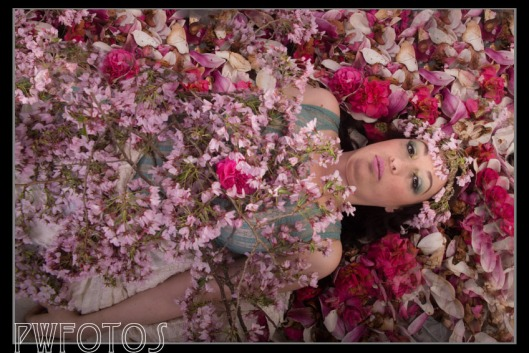 The spring goddess on natures floral mattress