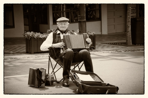 The old Accordion player - Merit